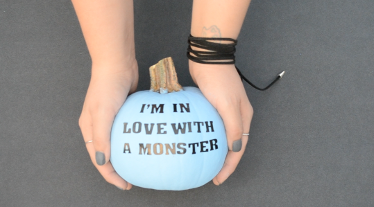 DIY Lyric Pumpkin Decor